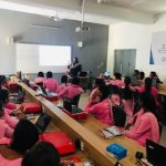 Ms Stuti Tiwari, Training and Field Operations Manager, Skilled India with students during a workshop at Faridabad
