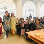 Ms Fatima Seemi Agha, Curriculum Manager SkillEd India and Ms Stuti Tiwari, Training and Field Operations Manager, Skilled India with students and teachers during a workshop at Panchkula