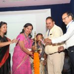 Ms Sunitha Nambiar, CEO Kunskapsskolan India with Principals during lamp lighting