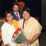 Ms Ritu Gupta - Director – Portal Management, Kunskapsskolan India and Dr. Sanjay Srivastava - Managing Director, MREI and Vice Chancellor, Manav Rachna University, welcoming Ms Rekha Menon, Deputy Head - Education Initiatives, NSDC