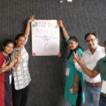 Participants involved in a session on 'Entrepreneurial Skills'