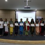 Vocational Teachers with their participation certificates.
