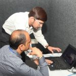 SkillEd India Team guiding Principals in navigating the SkillEd learning portal