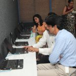 SkillEd India Team guiding District Education Office Team in navigating the SkillEd learning portal