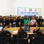 Ms Stuti Tiwari, Training and Field Operations Manager with students at Alawalpur, Palwal