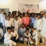 Ms Stuti Tiwari, Training and Field Operations Manager, Skilled India with students after a workshop at Mahendergarh